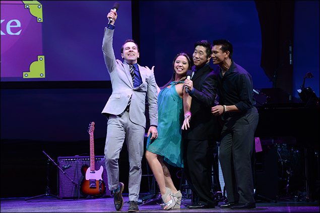 Rob McClure, Catherine Ricafort, Ray Lee, and Albert Guerzon