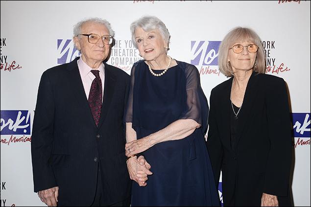 Sheldon Harnick, Angela Lansbury and Margery Gray Harnick