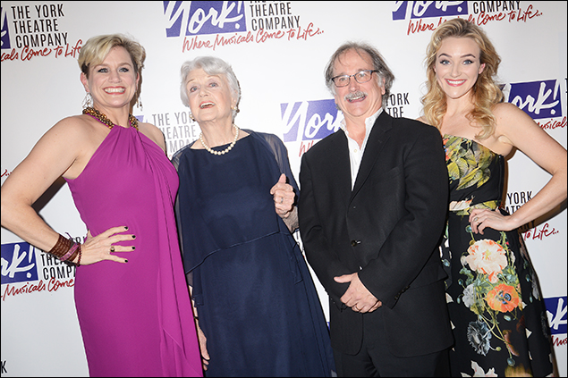Cady Huffman, Angela Lansbury, Mark Linn-Baker and Betsy Wolfe