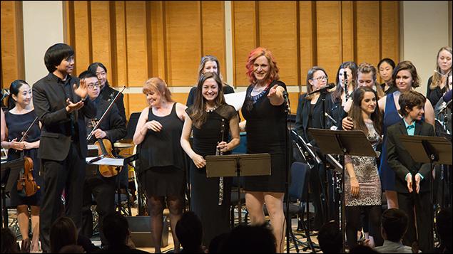 The Chelsea Symphony Conductor Mark Seto, Annie Golden, Mira Magrill, Shakina Nayfack, Remy Zaken, Amanda Savan, Aidan Gemme