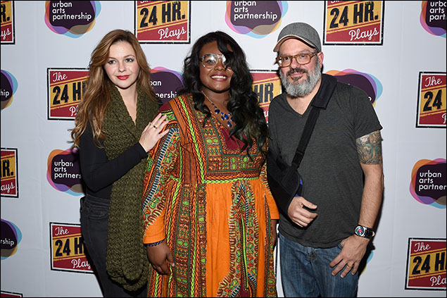 "Amber Tamblyn, Alyssa ""Lady Logic"" Saunders and David Cross"