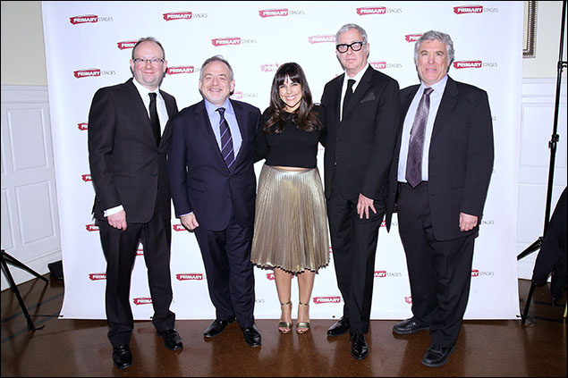 Andrew Leynse, Marc Shaiman, Michelle Bossy, Scott Wittman and Casey Childs
