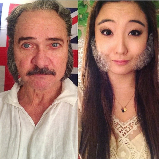 And while in the wig room... Who wore it better? #MuttonChops