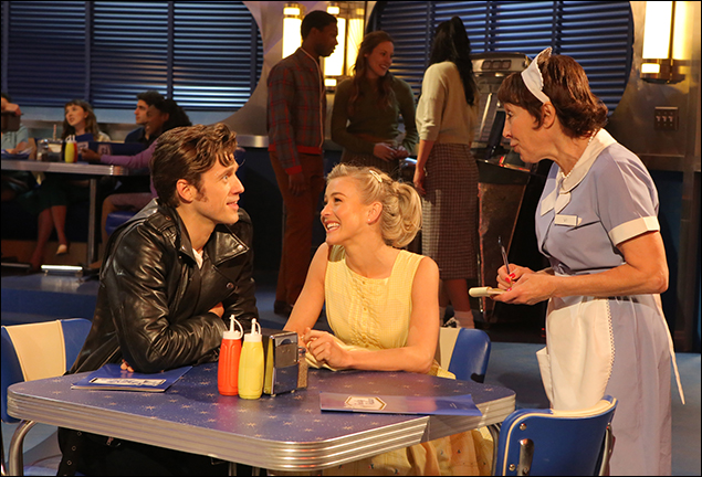 Aaron Tveit, Julianne Hough and Didi Conn