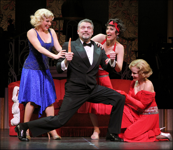 Megan Hilty, Stephen R. Buntrock, Rachel York and Deborah Rush in The City Center Encores! production of Gentlemen Prefer Blondes