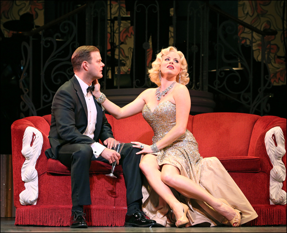 Clarke Thorell and Megan Hilty in The City Center Encores! production of Gentlemen Prefer Blondes