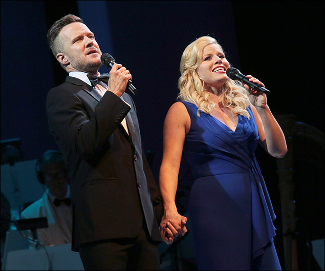 Will Chase and Megan Hilty in Bombshell the Broadway concert