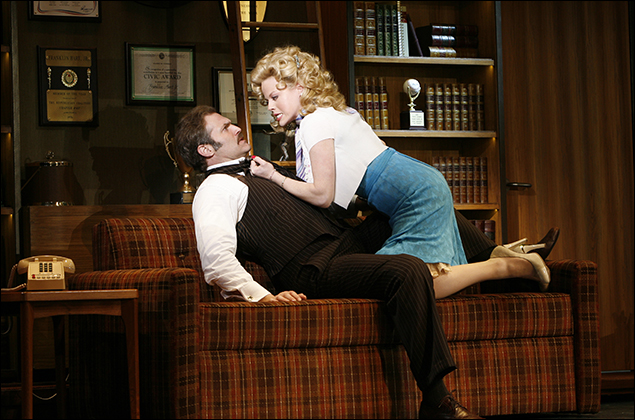 Marc Kudisch and Megan Hilty in 9 to 5