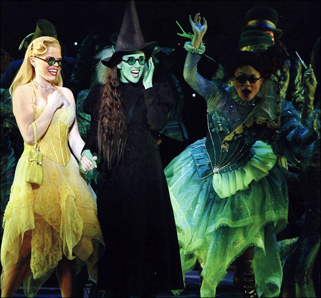 Megan Hilty and Caissie Levy in Wicked