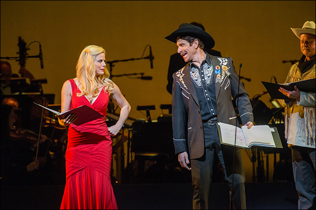 Megan Hilty and Andy Karl in New York City Center's Annie Get Your Gun