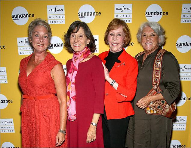 Michele Pawk, Lydia Kontos, Carol Burnett and Tyne Daly