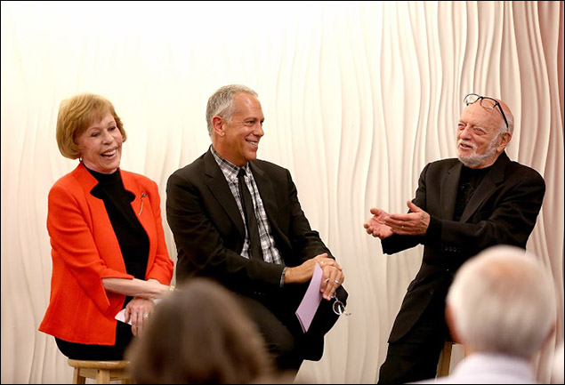 Carol Burnett, Phillip Himberg and Harold Prince