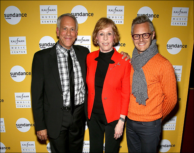 Phillip Himberg, Carol Burnett and Christopher Hibma