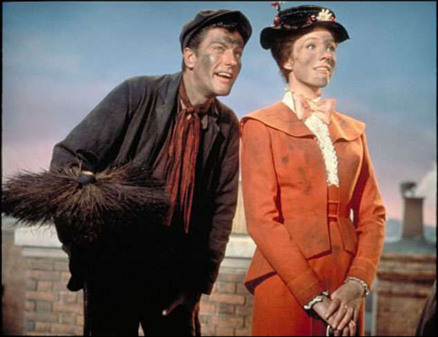 """Dick Van Dyke and Julie Andrews in """"Mary Poppins"""""""