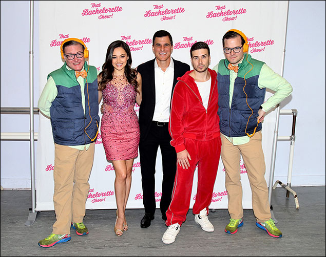Joanne Nosuchinsky, Ken Davenport and Vinny Guadagnino with AndrewAndrew