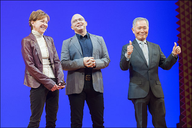 Julie White, Michael Cerveris and George Takei