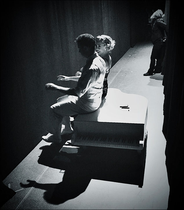 """Jeremy Benton (Phil Davis) and Kelly Sheehan (Judy Haynes) always take a moment to get in sync before """"I Love a Piano"""""""