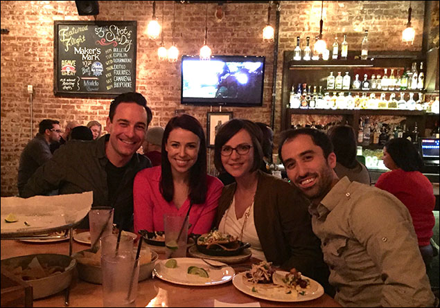 Catching up with friends from Wicked and Jersey Boys, Becca Kloha Strand and Ryan Strand. I love having friends all over the country.
