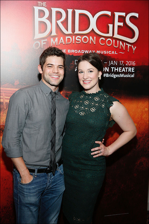 Jeremy Jordan and Caitlyn Caughell