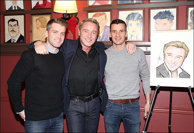 James Keegan, Michael Flatley and Morgan Comer