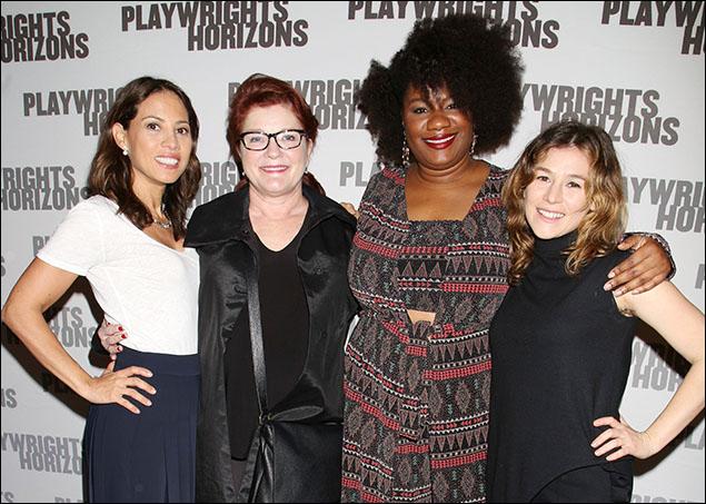 Elizabeth Rodriguez, Kate Mulgrew, Adrienne C. Moore and Yael Stone