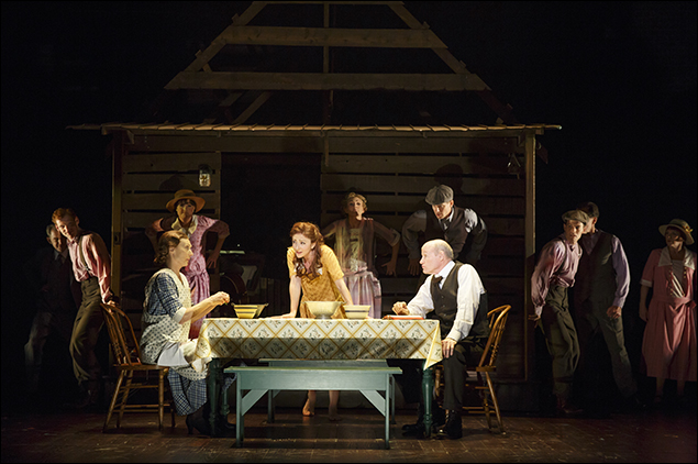 Dee Hoty, Carmen Cusack, Stephen Lee Anderson and the company of Bright Star