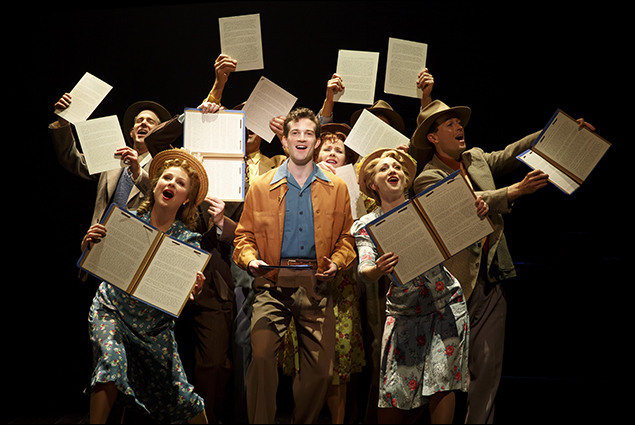AJ Shively and the company of Bright Star