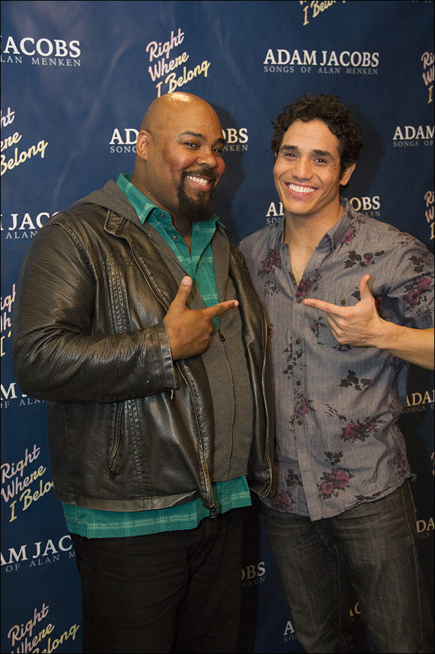 James Monroe Iglehart and Adam Jacobs