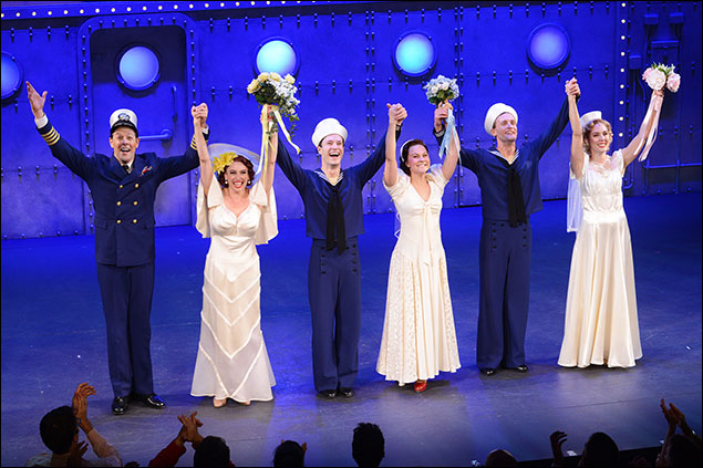 Dames at Sea opened Oct. 22 at the Helen Hayes Theatre