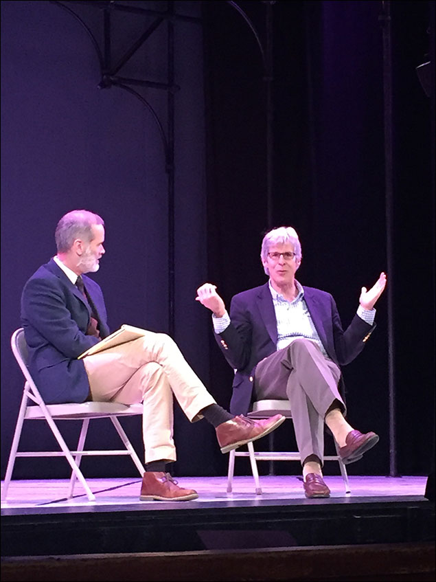 Our director, Jack Cummings III, and Ted Chapin, leading a talkback after one of our shows.