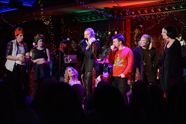 Julia Mattison and cast of The 8th Annual Joe Iconis Christmas Spectacular