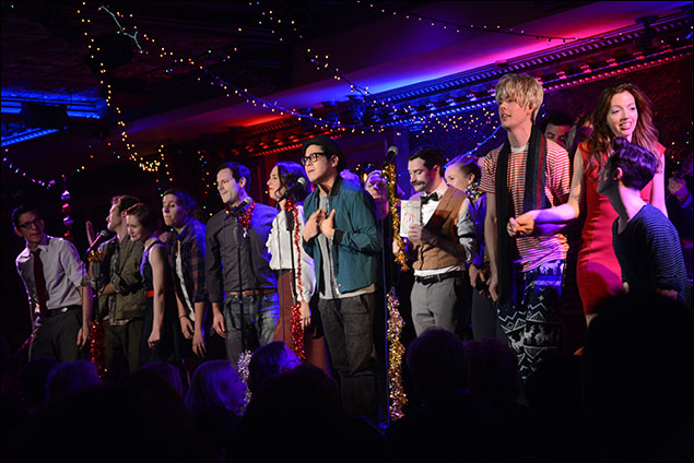 George Salazar and cast of The 8th Annual Joe Iconis Christmas Spectacular