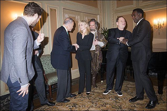 Matthew Morrison, U.S. Senator Charles E. Schumer, Judith Light, Brad Oscar, Harvey Weinstein and Norm Lewis