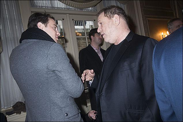 Jordan Roth and Harvey Weinstein