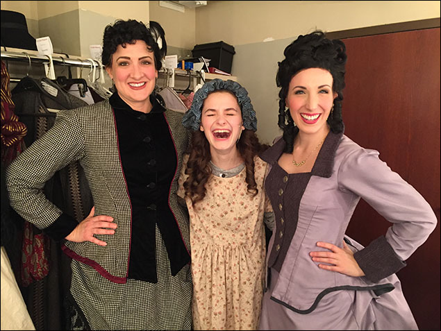 Here I am with two very special people to me... Christy Baggett who plays Miss Minchin and Molly Coyne who plays Miss Amelia! These ladies are always making me laugh (obviously) and I am so blessed to get to learn from them and experience them as they share their talents with everyone.