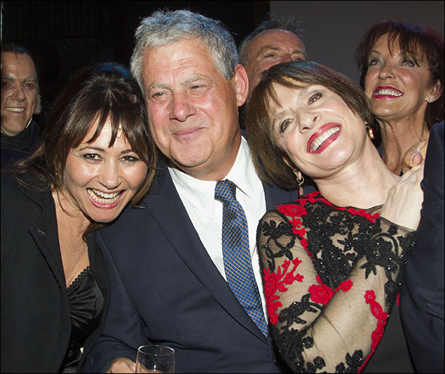 Frances Ruffelle, Cameron Mackintosh and Patti LuPone