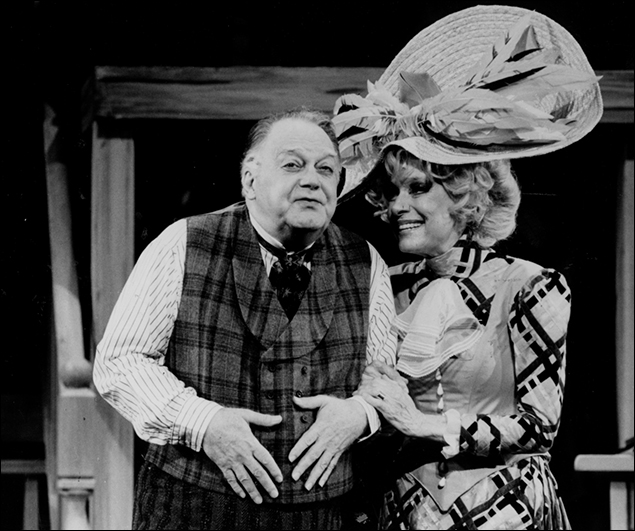 Jay Garner and Carol Channing in Hello, Dolly!