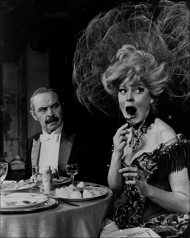 David Burns and Carol Channing in Hello, Dolly! on Broadway