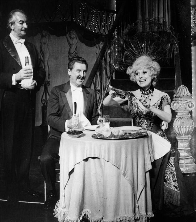Eddie Bracken and Carol Channing in Hello, Dolly! on Broadway