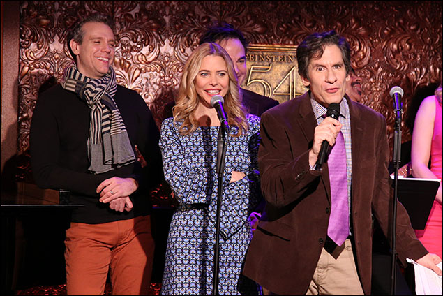 Adam Pascal, Kerry Butler, Roger Bart and Seth Rudetsky