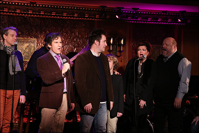 Adam Pascal, Seth Rudetsky, Roger Bart, Faith Prince and Kevin Chamberlin