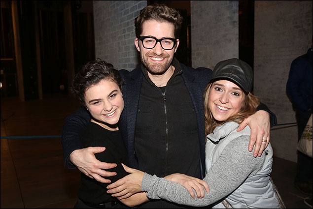 Melanie Moore, Matthew Morrison and Jessica Vosk