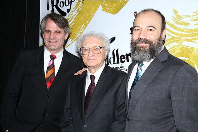 Bartlett Sher, Sheldon Harnick and Danny Burstein