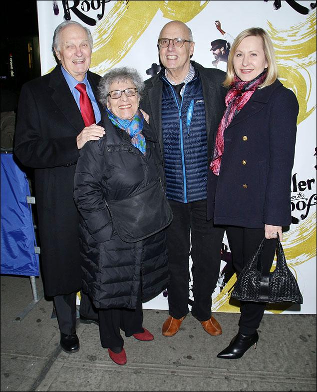 Alan Alda, Arlene Alda, Jeffrey Tambor and Kasia Ostlun