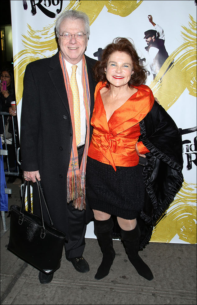 Andrew Levy and Tovah Feldshuh