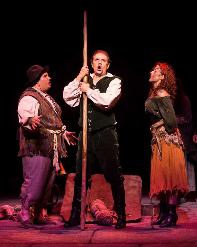 Paul Schoeffler has starred in numerous regional productions of the show, including this Houston staging, with Josh Lamon and Michelle DeJean