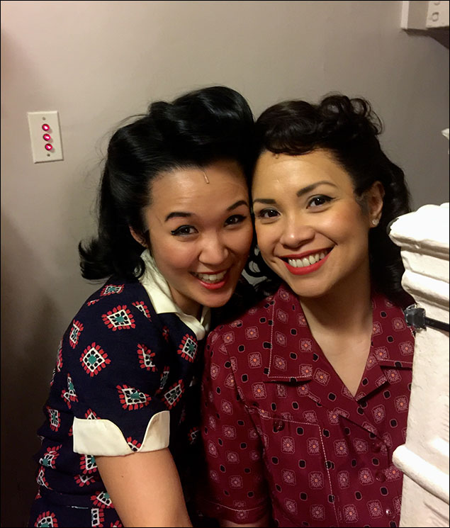 Lea and I on the stairwell ready for Act II