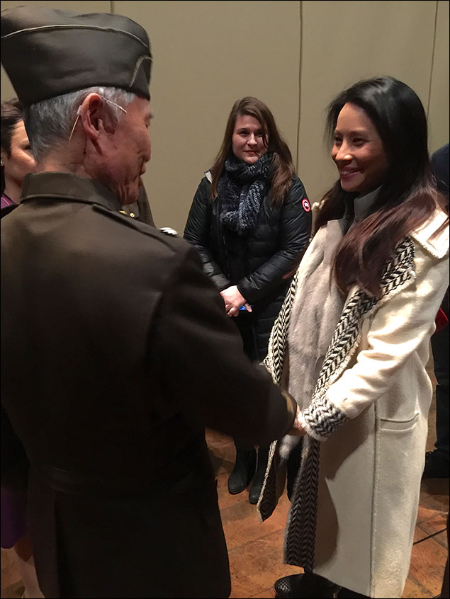 Lucy Liu watched Show One!  How lucky are we?!