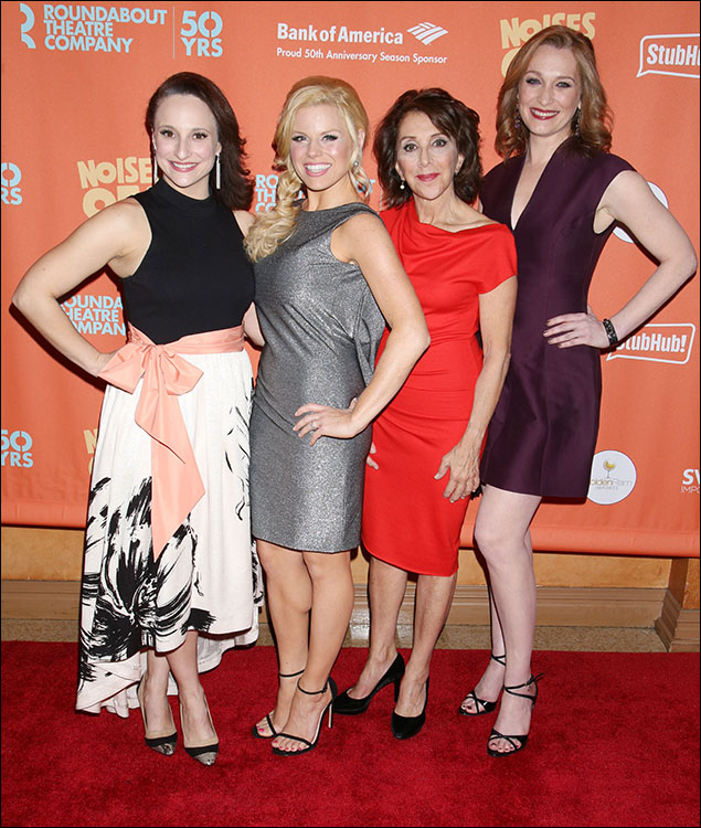 Tracee Chimo, Megan Hilty, Andrea Martin and Kate Jennings Grant
