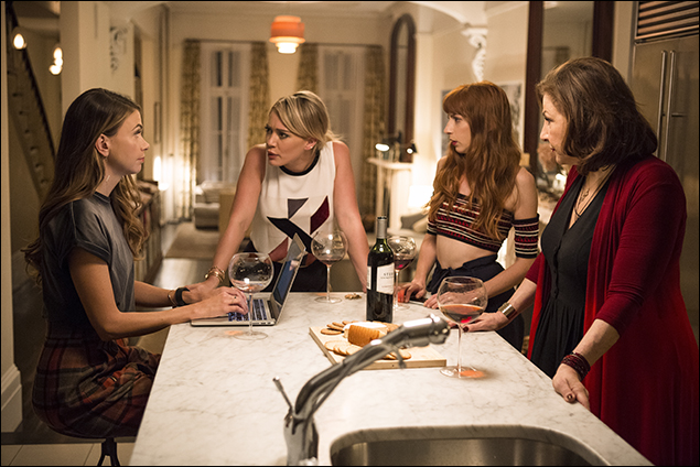 Sutton Foster, Hilary Duff, Molly Bernard and Kathy Najimy